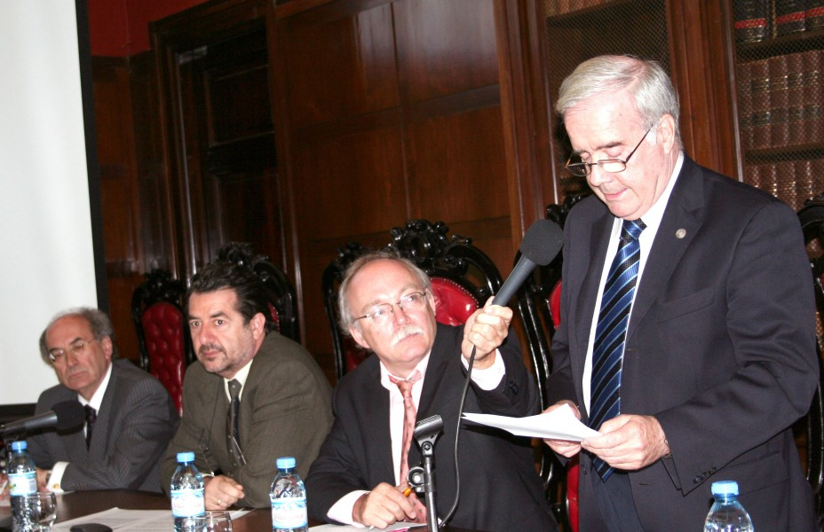 Bernard Grau, Fortunato Mallimaci, Patrice Vermeren y Tulio Ortiz
