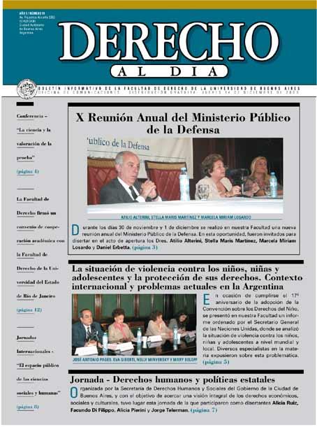Tapa de Derecho al Día - Edición 99
