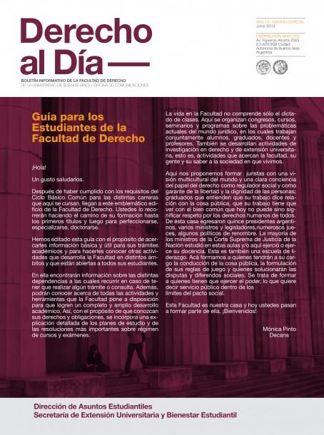 Tapa de Derecho al Día - Guía de Estudiantes 2015