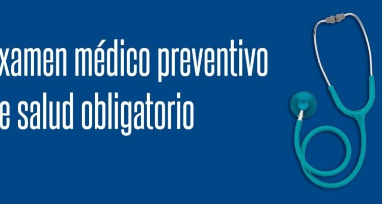 Examen médico preventivo de salud obligatorio