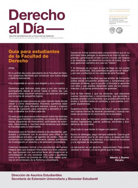Tapa de Derecho al Día - Guía de estudiantes