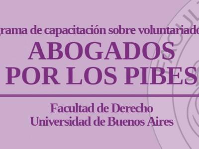 """Programa de capacitación sobre voluntariado legal """"Abogados por los pibes"""""""