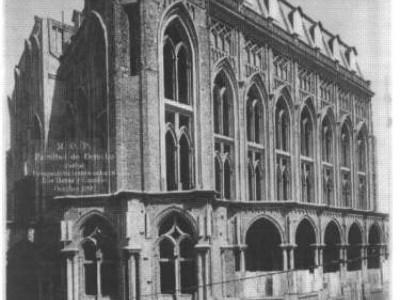La construcción a la que se trasladó la Facultad de Derecho y Ciencias Sociales en 1925 y que nunca fue concluida.