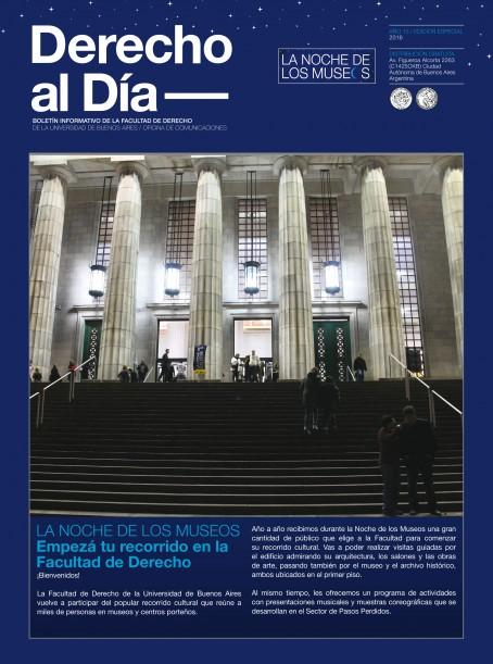 Tapa de Derecho al Día - Noche de los Museos