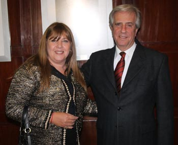 Tabaré Vázquez, Mónica Pinto y Aldo Neri