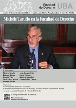 Michele Taruffo en la Facultad de Derecho