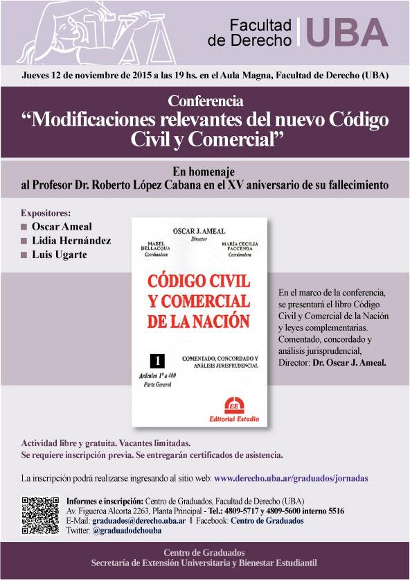 Conferencia modificaciones relevantes del nuevo c digo for Codigo nuevo instagram