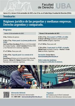 Seminario: Régimen jurídico de las pequeñas y medianas empresas. Derecho argentino y comparado
